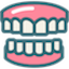 Dental full mouth rehabilitation icon icon